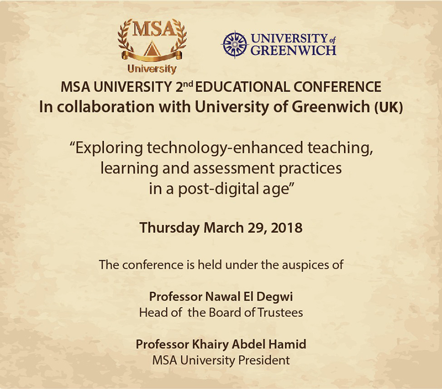 MSA University - 2nd Annual International Teaching, Learning and Assessment Conference