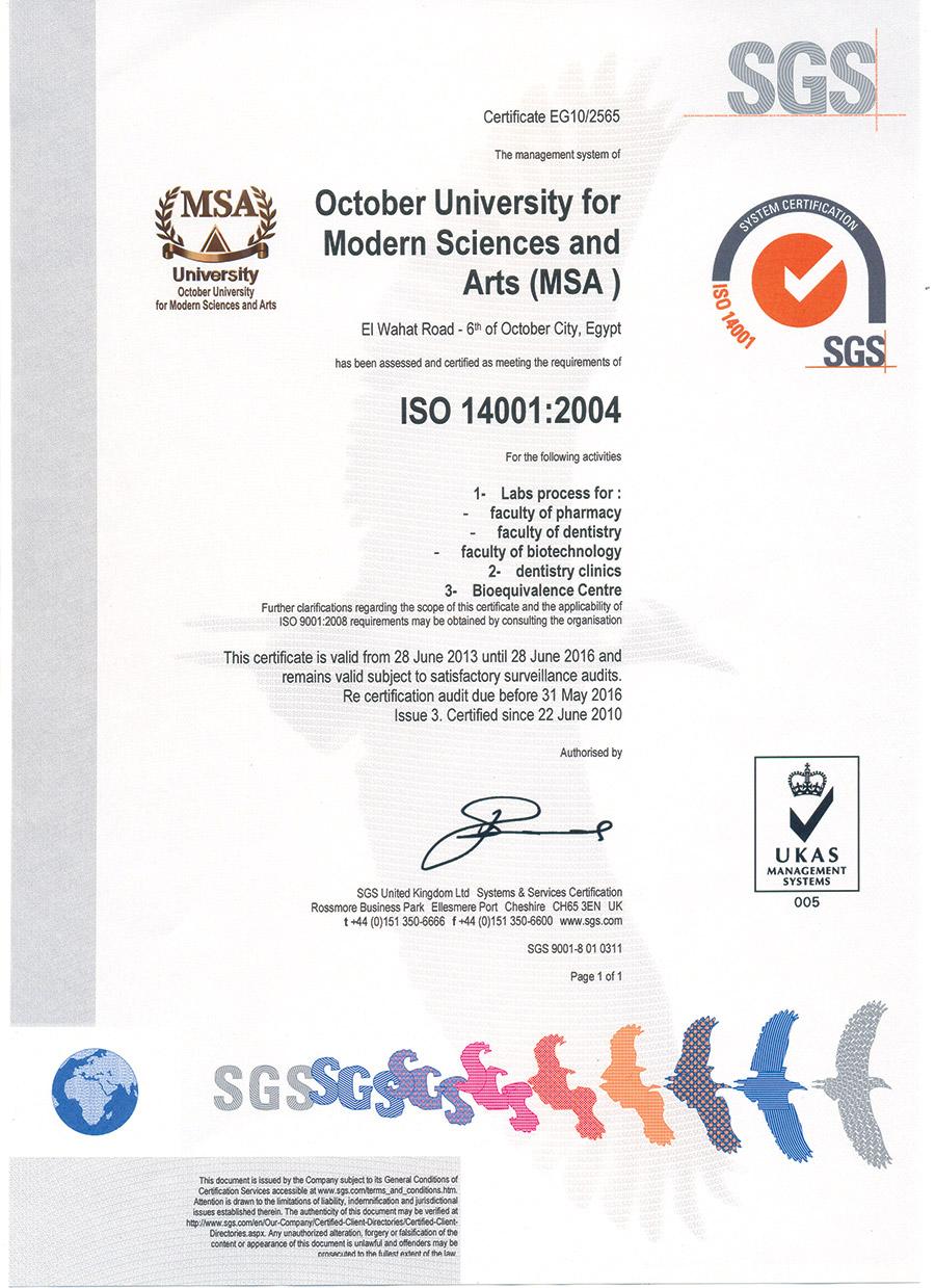 Iso Certifications Msa University