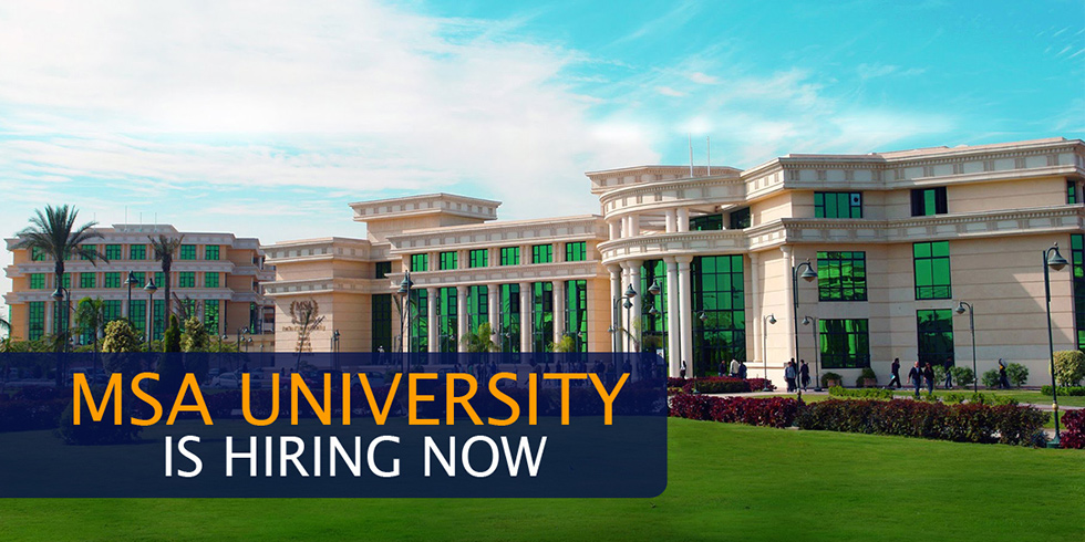 MSA University - HR Department, Job Vacancies