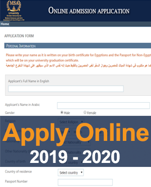 MSA University - Apply Online (2019-2020)
