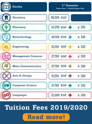 MSA University - Tuition Fees (2019-2020)