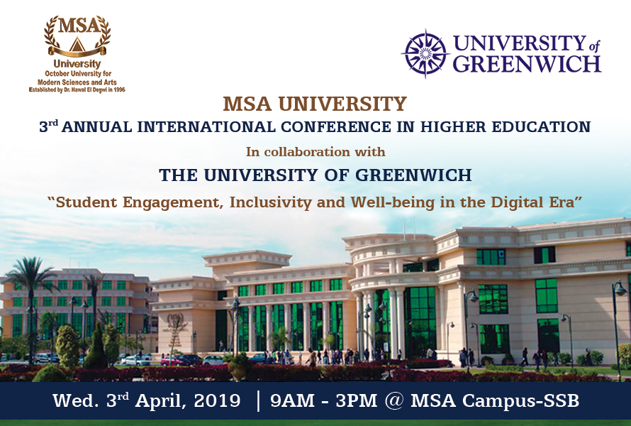MSA's 3rd Annual International Conference In Higher Eduacation