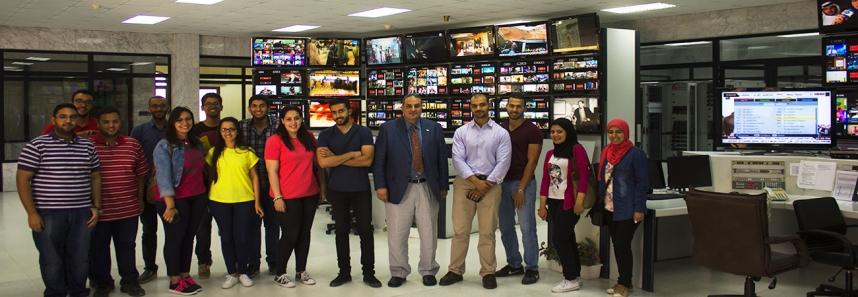 Communication students in Communications Museum- Telecom Egypt
