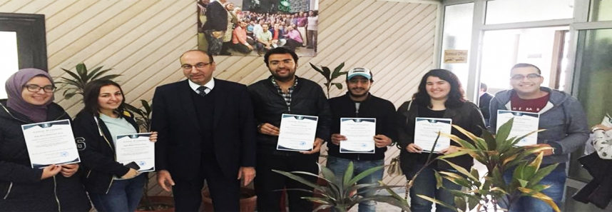 Biotechnology students have been awarded for their graduation projects