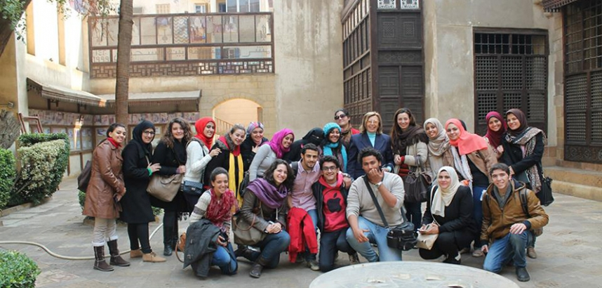 "Interior Design Students Visit ""As-Suhaiymi House"" in Historic Cairo"