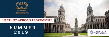 University of Greenwich – Summer 2019